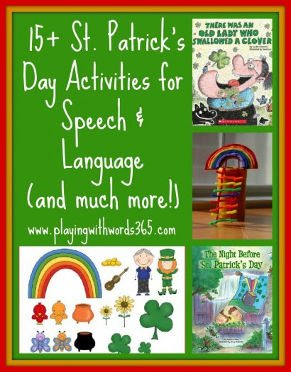 St Patricks Day Activities For Speech