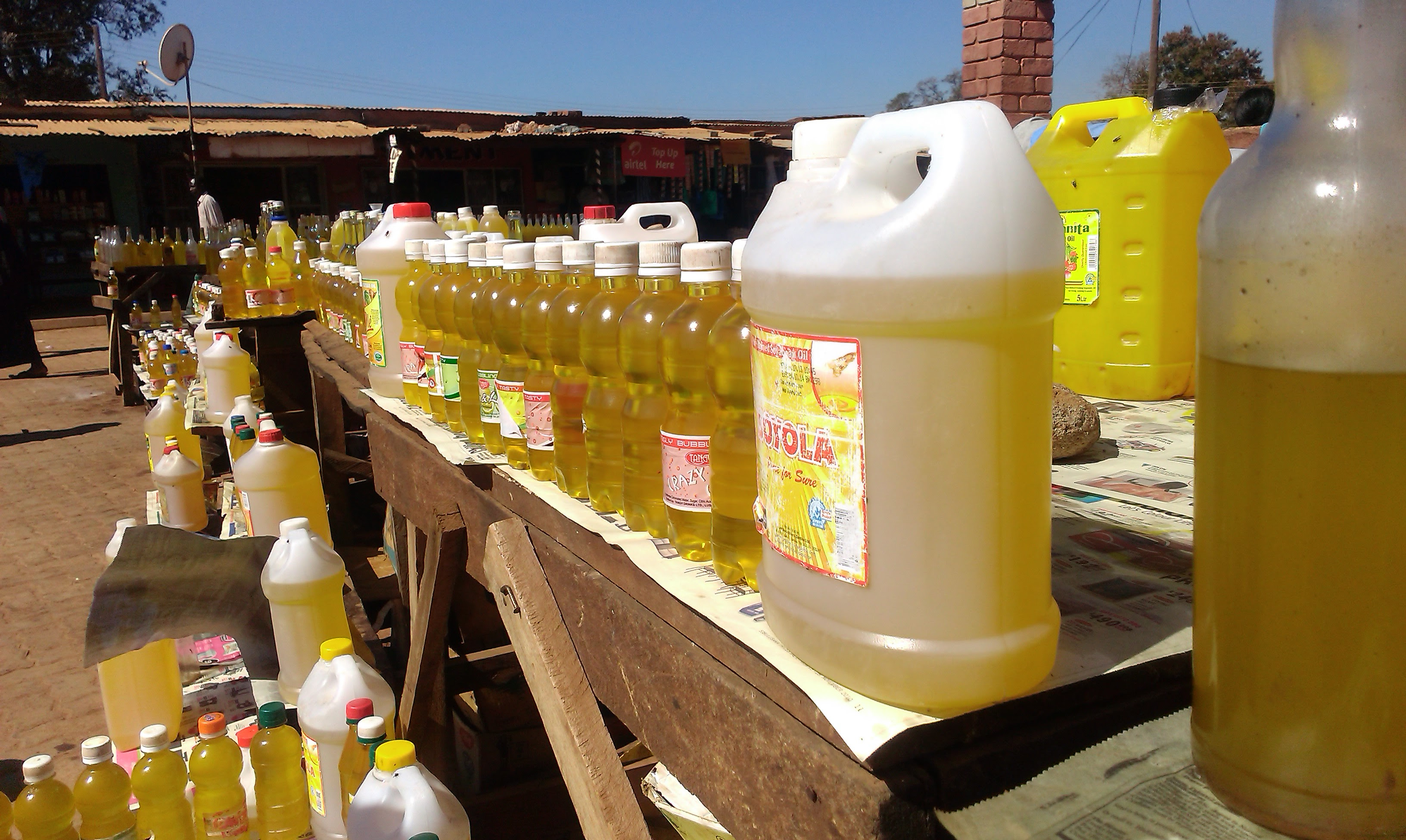 Cooking oil, in all different sizes to suit every budget!