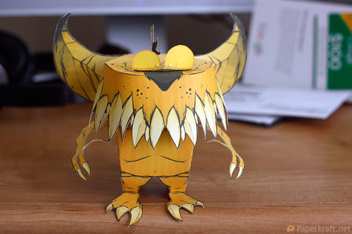 Thorndyke Monster Papercraft 01
