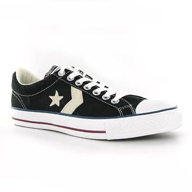Converse Star Player Ev Ox Black White Canvas Mens Trainers price - Converse  Shoes 29e9f62fd