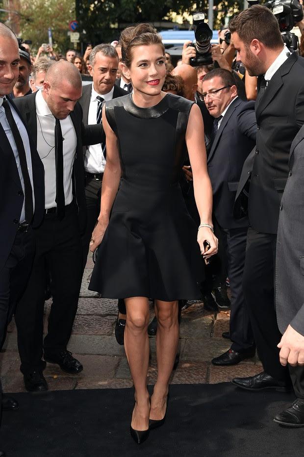 Charlotte Casiraghi no desfile da Gucci (Foto: Getty Images)