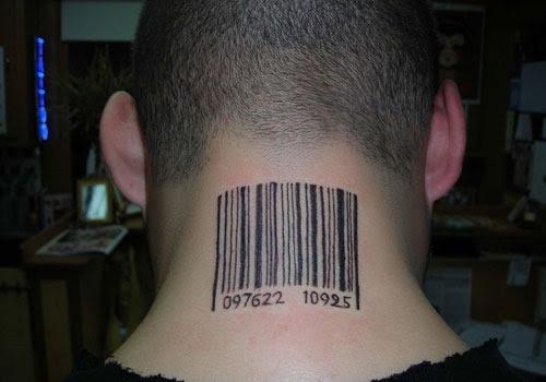 Barcode Tattoo On Leg