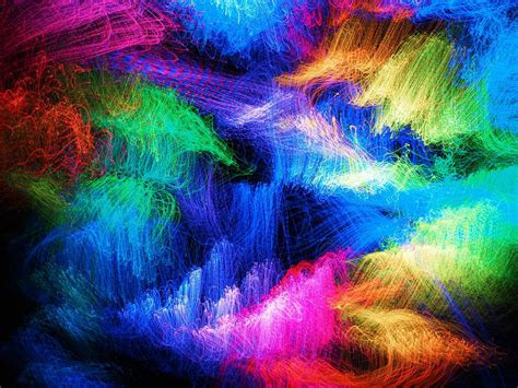 multi colored abstract green color exploding vibrant