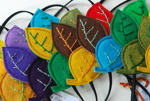 leaf handbands