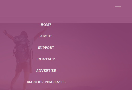 Menu - Tribes Blogger Template