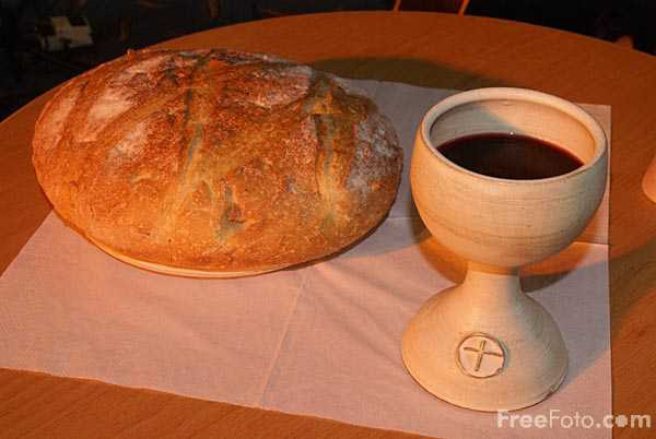 Communion Bread And Wine Beyond The Pale