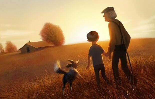 Avô-passeando-com-seus-netos