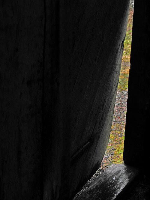 front door of Chief Son-i-Hat Whale House, Kasaan, Alaska