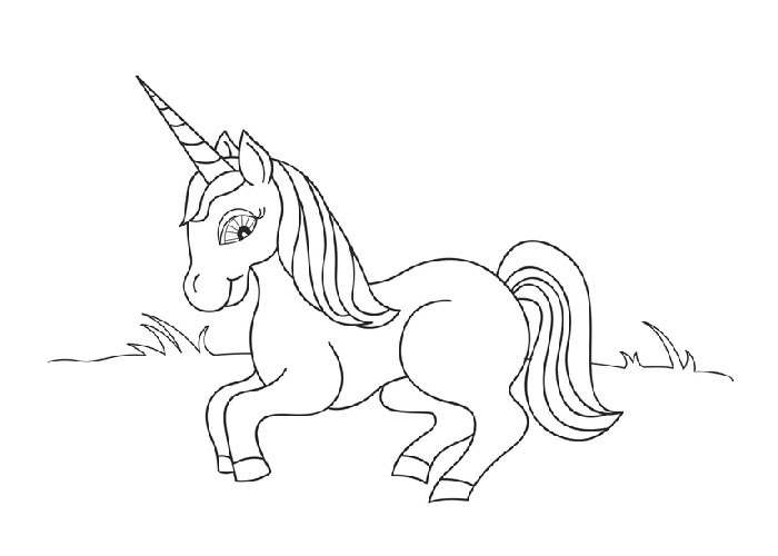 Unicorns coloring pages - Coloring pages