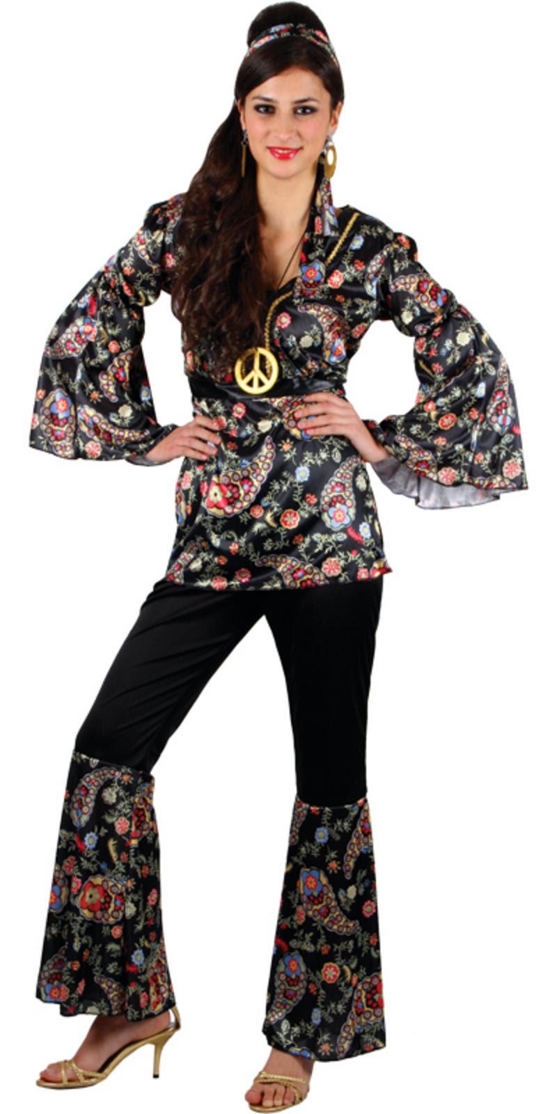 ladies peace lovin' hippie xs teen size fancy dress