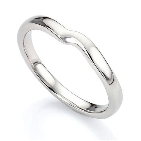 Shaped Wedding Ring for Twist Engagement Ring