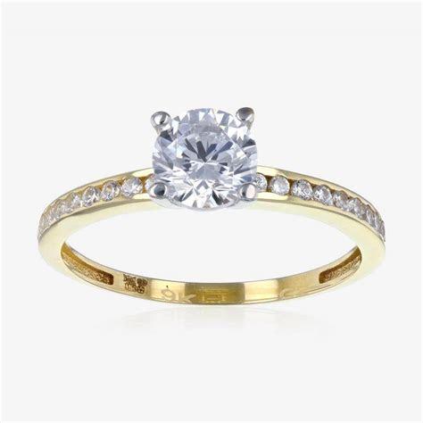 Torino 9ct Gold DiamonFlash ® Cubic Zirconia Solitaire Ring