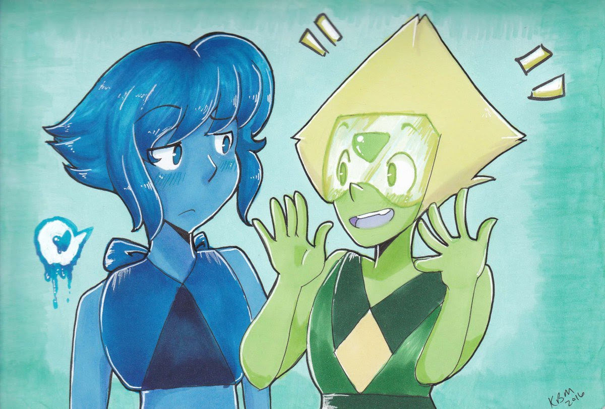 Lapidot drawing I did after a marathon. I know Peridot is a bit tall here but oh well 8))
