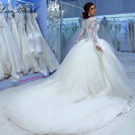 fall winter muslim long sleeve cinderella wedding dress