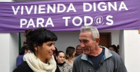 Diego Cañamero y Teresa Rodríguez