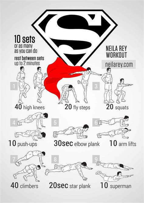 superman bodyweight workout pop workouts