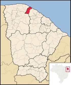 Localização de Amontada
