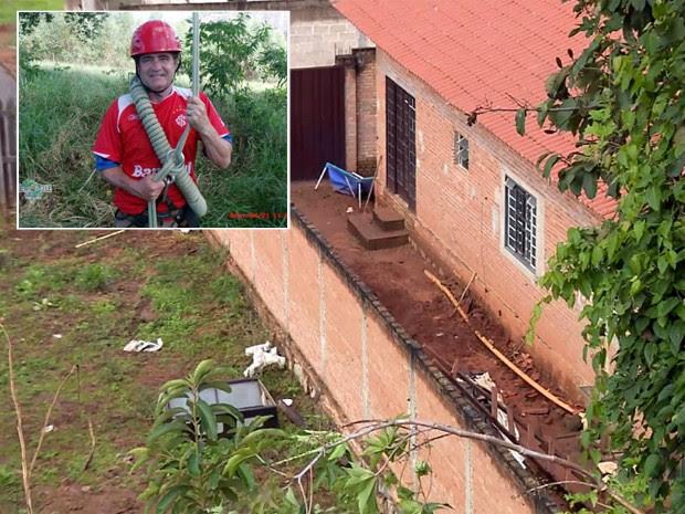 Advogado foi morto e enterrado no quintal em São Gonçalo do Sapucaí (Foto: Reprodução EPTV)