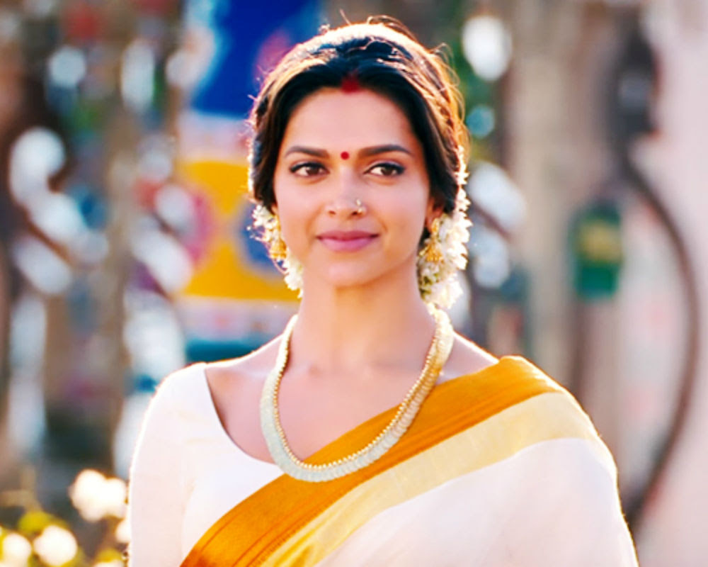 Deepika Padukone In Saree Chennai Express - Deepika ...