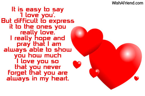 It Is Easy To Say I I Love You Message
