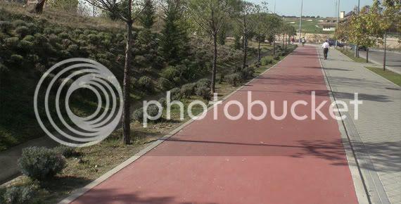 carril bici en Montecarmelo