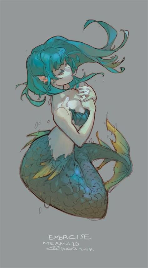 krenz cushart  study mermaid drawings anime