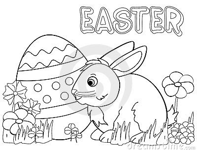 easter bunny coloring page royalty free stock photo  image 12611455