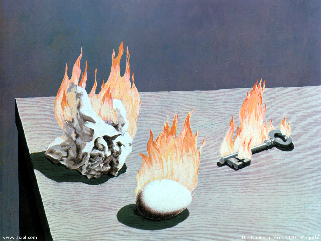 The Ladder Of Fire, 1939 Rene Magritte