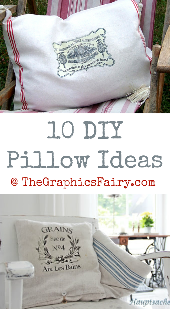 10 DIY Pillow Ideas