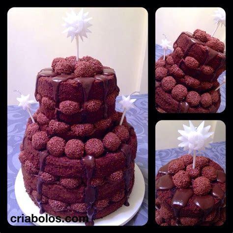 Naked Cake   brigadeiro (chocolate)   Naked cake