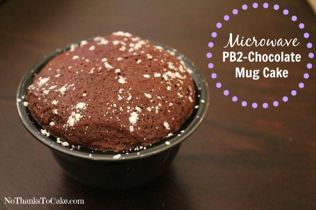 Microwave PB2 - Chocolate Mug Cake