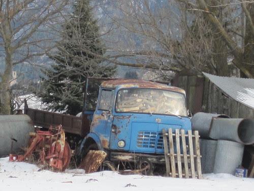 Camió Berliet a La Perxa (Alta Cerdanya)