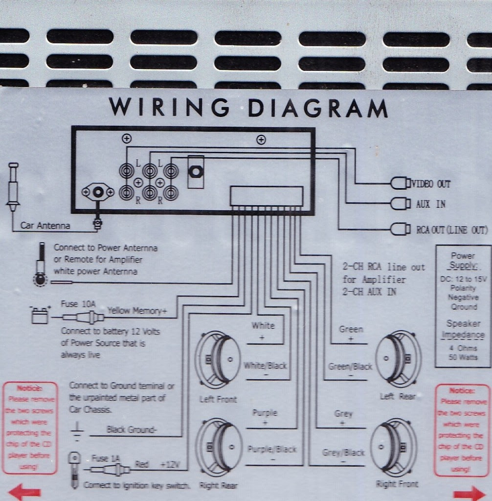 Dvd Car Stereo Wiring Diagram