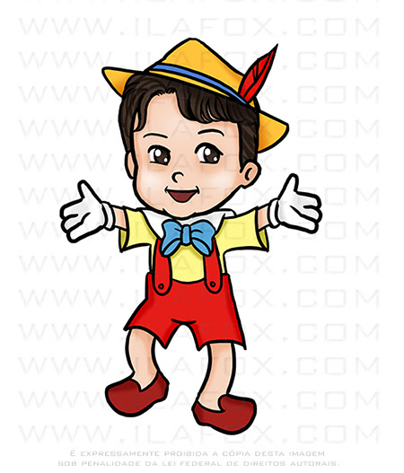 caricatura infantil, caricatura pinoquio,  caricatura desenho, caricatura personalizada, caricatura digital, by ila fox