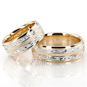 HH FC100364 14K Gold Exclusive Floral Design Wedding Band Set
