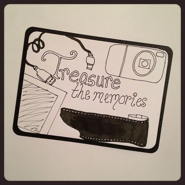 Day 6: Treasure #postcard #doodleadaymarch #doodleaday #camera #film #polaroid #usbcable #momories