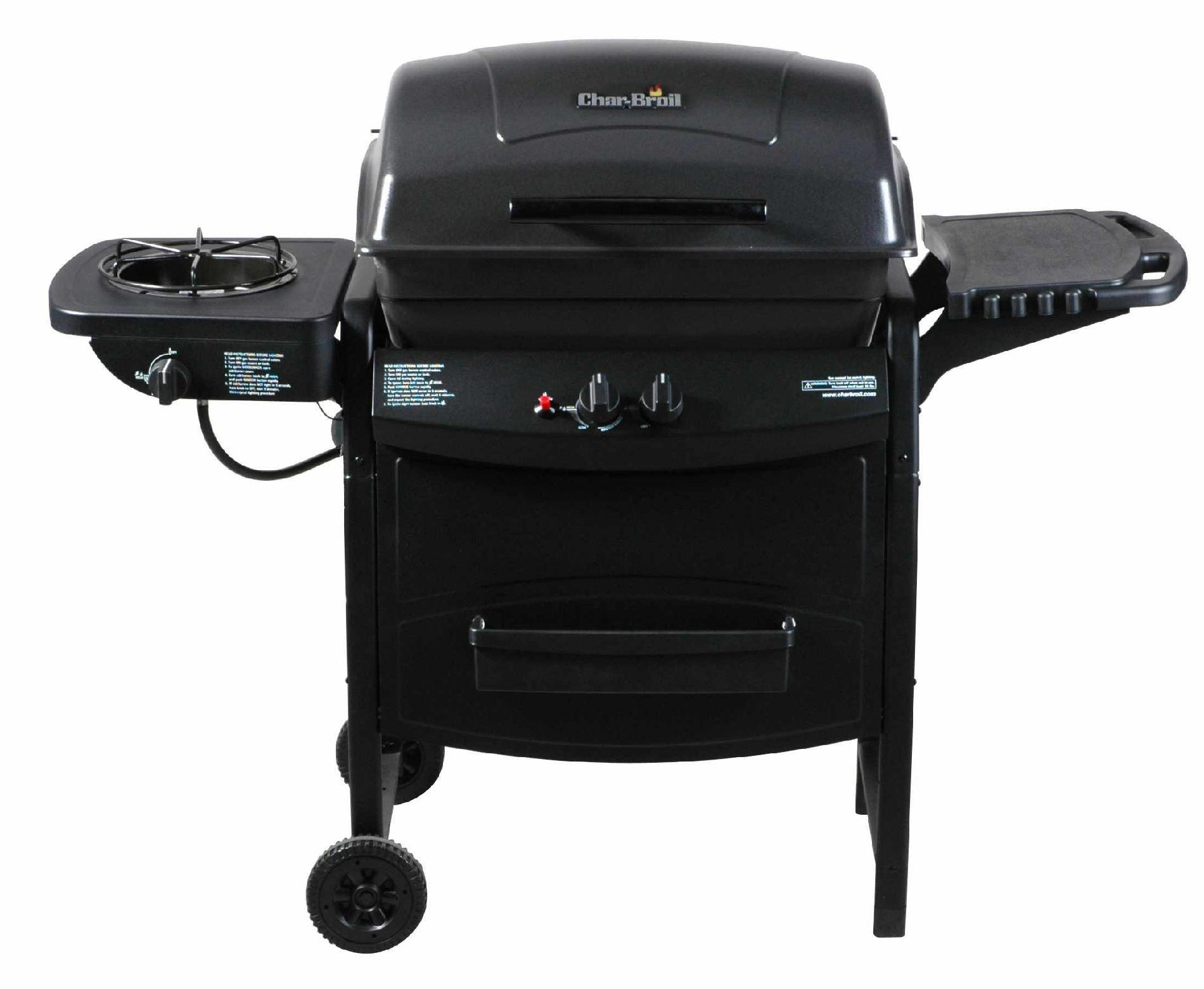UPC Char Broil 2 Burner Gas Grill with Side Burner