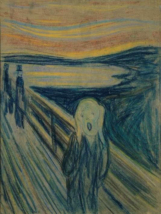 «Cette maladie se caractérise par un ensemble de symptômes fluctuants et rarement présents de façon simultanée (comme des idées délirantes, une désorganisation de la pensée, un manque d'énergie)» (Illustration:«Le Cri», d'Edvard Munch).
