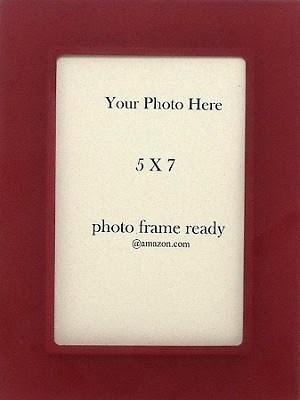 Table Top Photo Frame Tomato Red Color Acrylic 5x7 Childrens Accessories