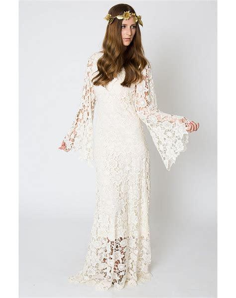 Vintage Ivory Lace Bohemian Wedding Dresses 2017 V neck