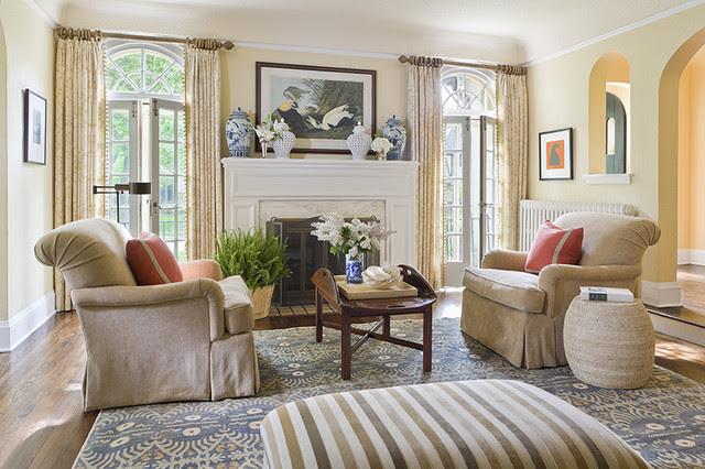 English Colonial - Traditional - Living Room - Minneapolis ...