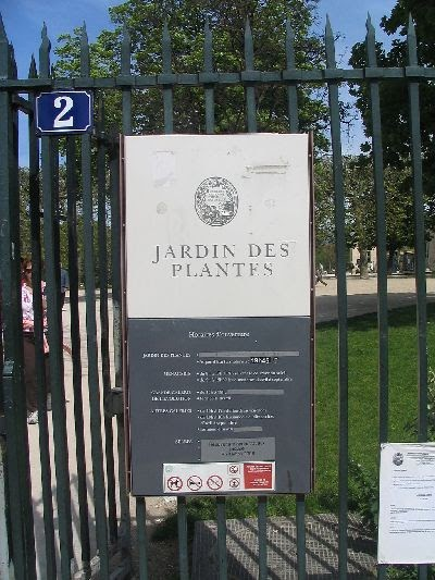 Paris panam jardin des plantes - Horaire d ouverture jardin des plantes ...