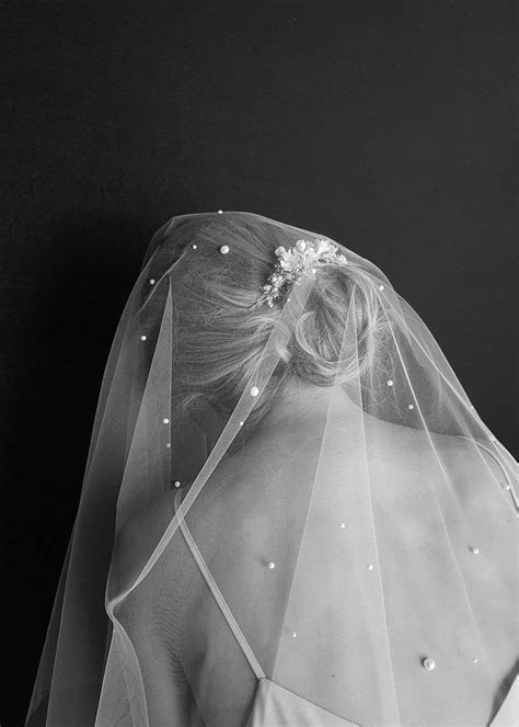 THEODORE   pearl chapel wedding veil   TANIA MARAS