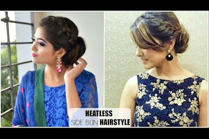 Messy Bun Hairstyles With Gown