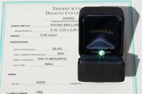 Tiffany & Co 1/2 Ct Round Solitaire Diamond Platinum