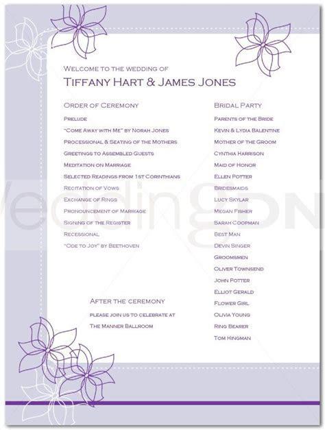 Wedding Reception Program Outline Agenda   Wedding