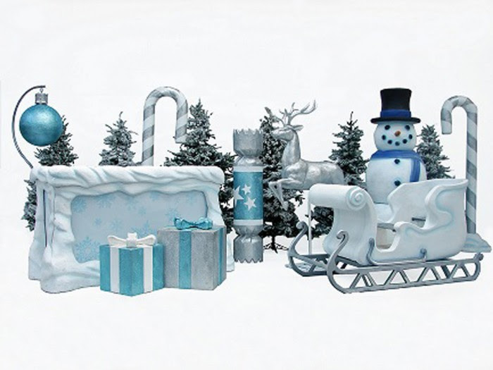 Winter Wonderland Bar Dj Booth Prop Event Prop Hire