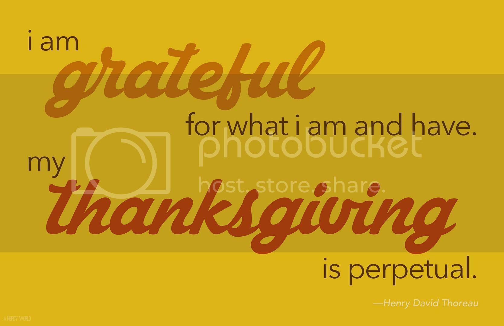 A Nerdy World Giving Thanks