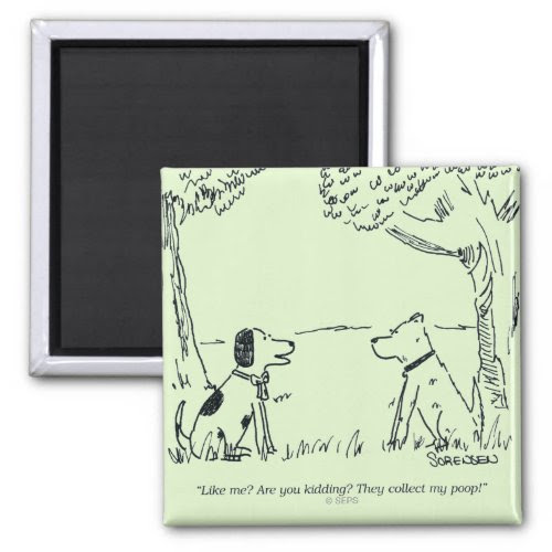 Do They Like You? | Funny Dog Cartoon Magnet