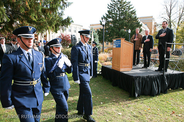 Honoring Veterans Flag Raising-12